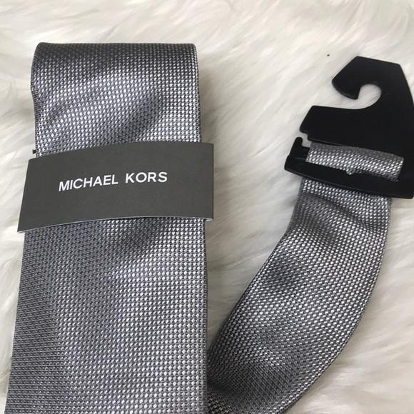 Michael Kors Men's Tie Silver